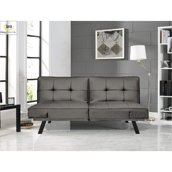 Superieur Serta Dark Gray Queen Convertible Sofa Bed   Dorian ...