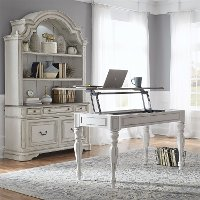 Antique White Traditional Lift-top Desk - Magnolia Manor