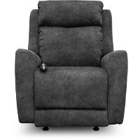SoCozi Charcoal Gray Power Rocker Recliner - View Point