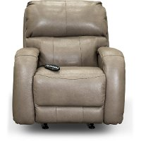 SoCozi Cobblestone Leather-Match Rocker Power Recliner - Fame