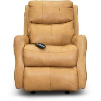 SoCozi Caramel Leather-Match Rocking Power Recliner - Jack