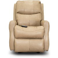 SoCozi Sand Tan Leather-Match Rocking Power Recliner - Jack