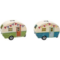 Assorted Multi Color Solar Happy Camper Outdoor Decor