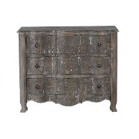 Distressed Pine Brown 3 Drawer Dresser Chest - Dylan