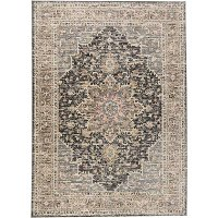 8 x 10 Large Gray and Charcoal Gray Area Rug - Grayson