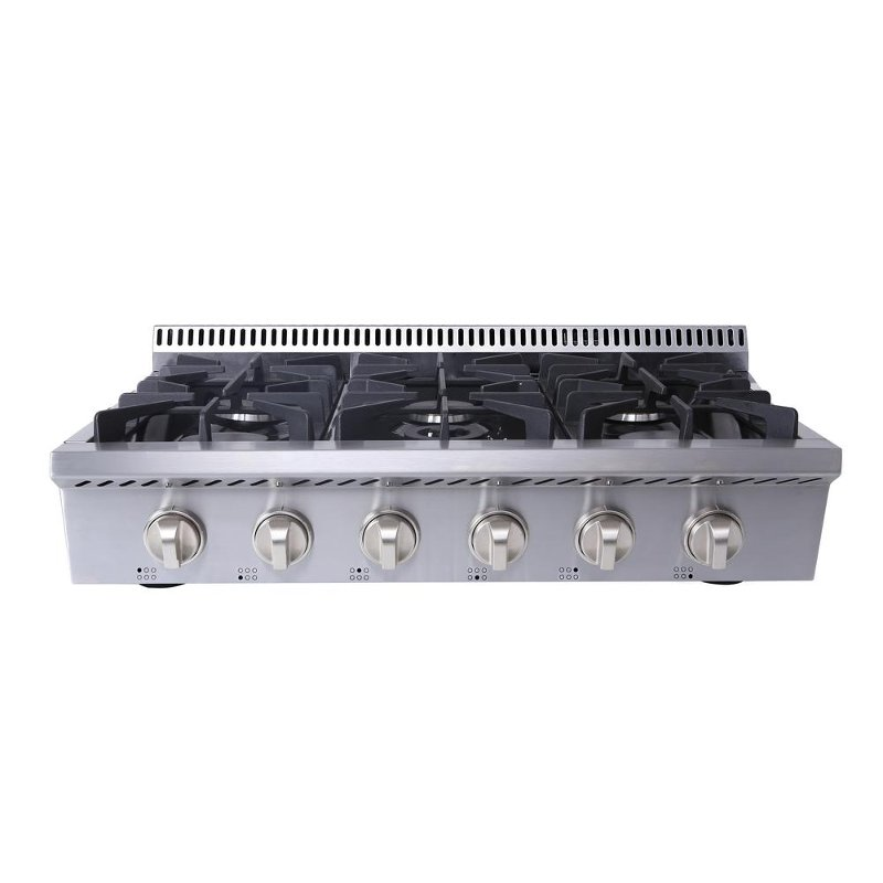 Hrt3618u Thor Professional 36 Inch 6 Burner Rangetop Stainless Steel