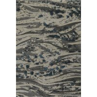 8 x 11 Large Contemporary Pewter Gray Area Rug - Upton