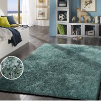 8 x 10 Large Marine Blue Shag Rug - Shaggy Viscose
