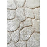 8 x 10 Large Modern Ivory Area Rug - Rock