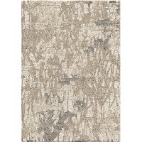 8 x 10 Large Mystical Abstract Ivory and Beige Area Rug - Mystical