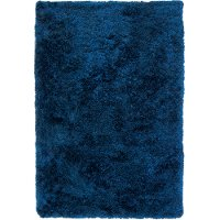 5 x 8 Medium Contemporary Navy Blue Shag Rug - Luxe Shag