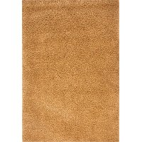 5 x 8 Medium Transitional Gold Shag Rug - Comfort Shag