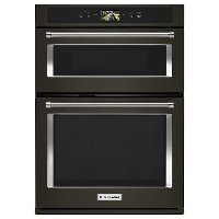 KOCE900HBS KitchenAid 30 Inch Smart Combination Wall Oven with Microwave - 6.4 cu. ft. Black Stainless Steel