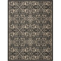 8 x 10 Large Charcoal Gray Indoor-Outdoor Rug - Caribbean