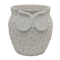 8.5 Inch White Owl Planter
