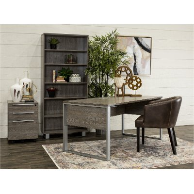 Gray Modern Office Desk - Kalmar