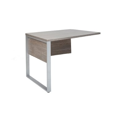 Gray Home Office Desk Return - Kalmar