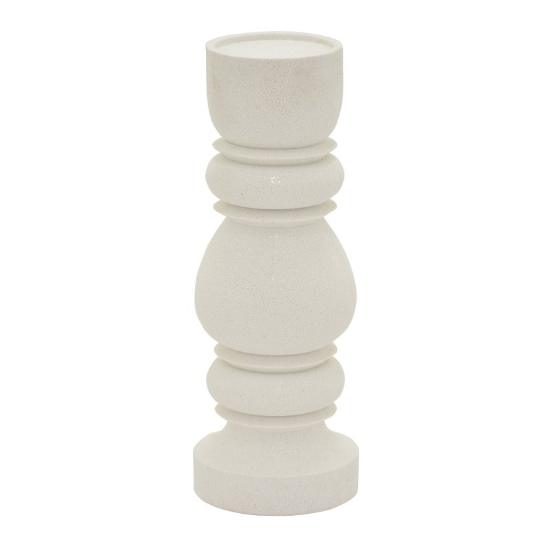 14 inch white stone look candle holder rcwilley image1~800