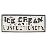White Ice Cream and Confectionery Novelty Wall Sign