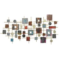 Earth Tone Metal Shapes Wall Decoration