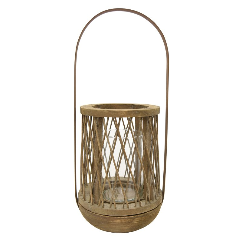 21 inch wooden natural decorative lantern rcwilley image1~800