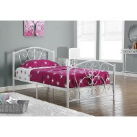 Casual Traditional WhiteWW Twin Metal Bed