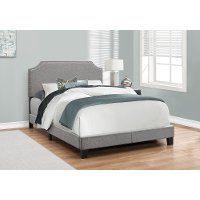Classic Contemporary Gray Full Upholstered Bed