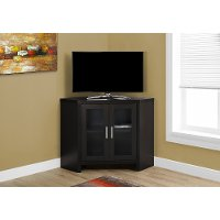 42 Inch Cappuccino Brown Corner TV Stand