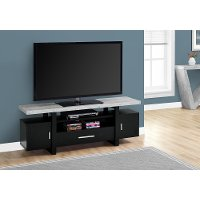Black and Cement Gray Top 60 Inch TV Stand