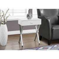 White 24 Inch End Table