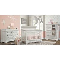 Traditional White 4 Piece Nursery Furniture Set - Olivia