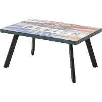 KIT Ceramic Top Patio Coffee Table - Graphix