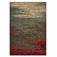 5 x 7 Medium Abstract Red, Blue, and Green Area Rug - Laurel