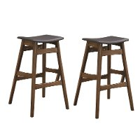 Mid Century Brown and Gray 30 Inch Bar Stool (Set of 2) - Anson