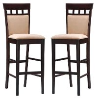 Cappuccino Brown Wood Bar Stool (Set of 2) - Alton
