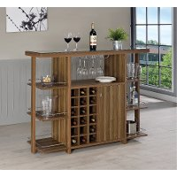 Walnut Transitional Bar Unit - Ambros Collection