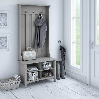 Cape Cod Gray Hall Tree with Storage and Bench - Salinas