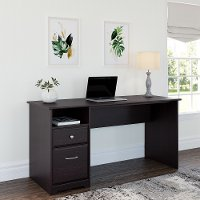 Espresso Oak Computer Desk with Drawers - Cabot