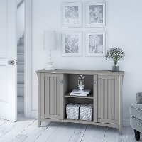 Cape Cod Gray Accent Storage Cabinet with Doors - Salinas
