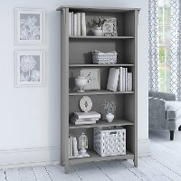 Cape Cod Gray 5 Shelf Bookcase - Salinas