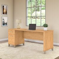 Maple Cross Office Desk with Drawers - Somerset