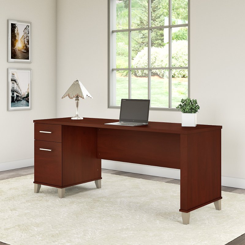 Hansen Cherry Office Desk with Drawers - Somerset
