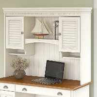 Antique White Hutch for Computer Desk - Stanford