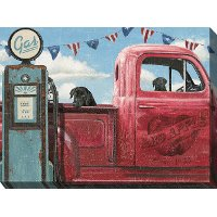 Take A Ride Truck Patio Canvas Outdoor-Indoor Wall Art