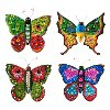 Assorted Multi Color Hand Painted BoHo Butterfly