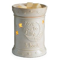 Creamy White Love You To The Moon Fragrance Warmer - Candle Warmers