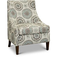 Remarkable Beige Brown And Slate Blue Folkart Club Accent Chair Devin Ibusinesslaw Wood Chair Design Ideas Ibusinesslaworg