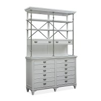 Beach White Dining Sideboard and Hutch - Aly