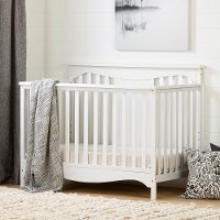 11846 Classic White Crib with Toddler Rail - Savannah