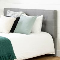 12124 Contemporary Gray Queen Upholstered Headboard - Fusion